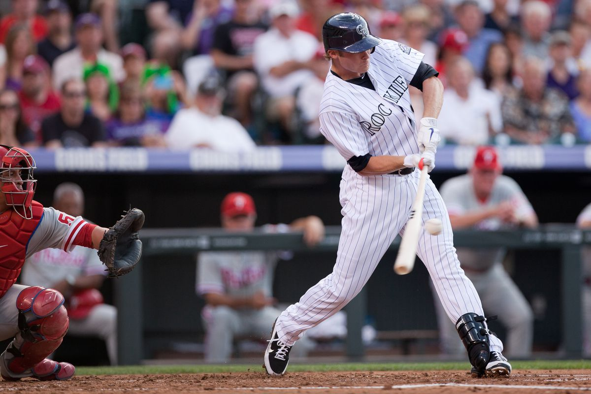 Josh Rutledge, displaying his ability to get the angles right at the plate...