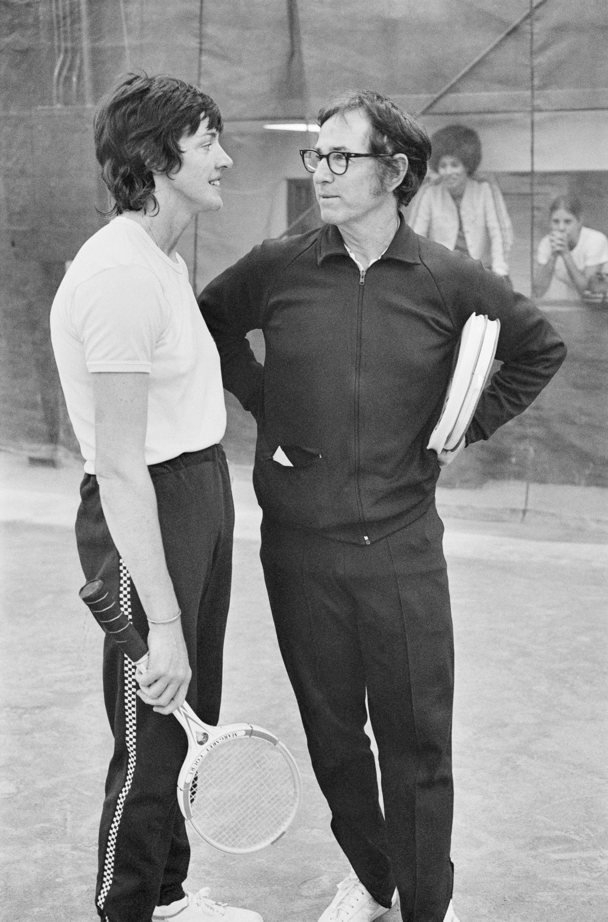 Margaret Court Speaking with Bobby Riggs