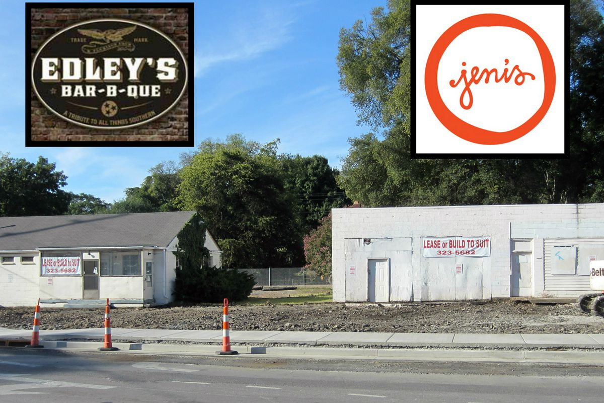 The former home of the Sylvan Park Restaurant and the likely future home of Edley's Bar-B-Que and Jeni's Ice Creams.