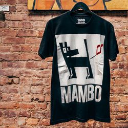 """<b>Mambo</b> t-shirt, <a href=""""http://www.bspacenyc.com/products/mambo-farting-dog-blk-s"""">$40</a>"""