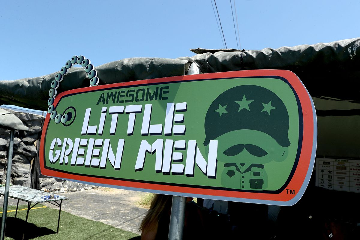 Awesome Little Green Men Battle At Paintball Park At Camp Pendleton