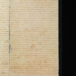 The first page of the printer's manuscript of the Book of Mormon, provided by Joseph Smith to the printer, E.B. Grandin, in 1830. Grandin used the manuscript to set the type for the first edition of the Book of Mormon. The LDS Church purchased the manuscript from the Community of Christ on Wednesday, Sept. 20, 2017.