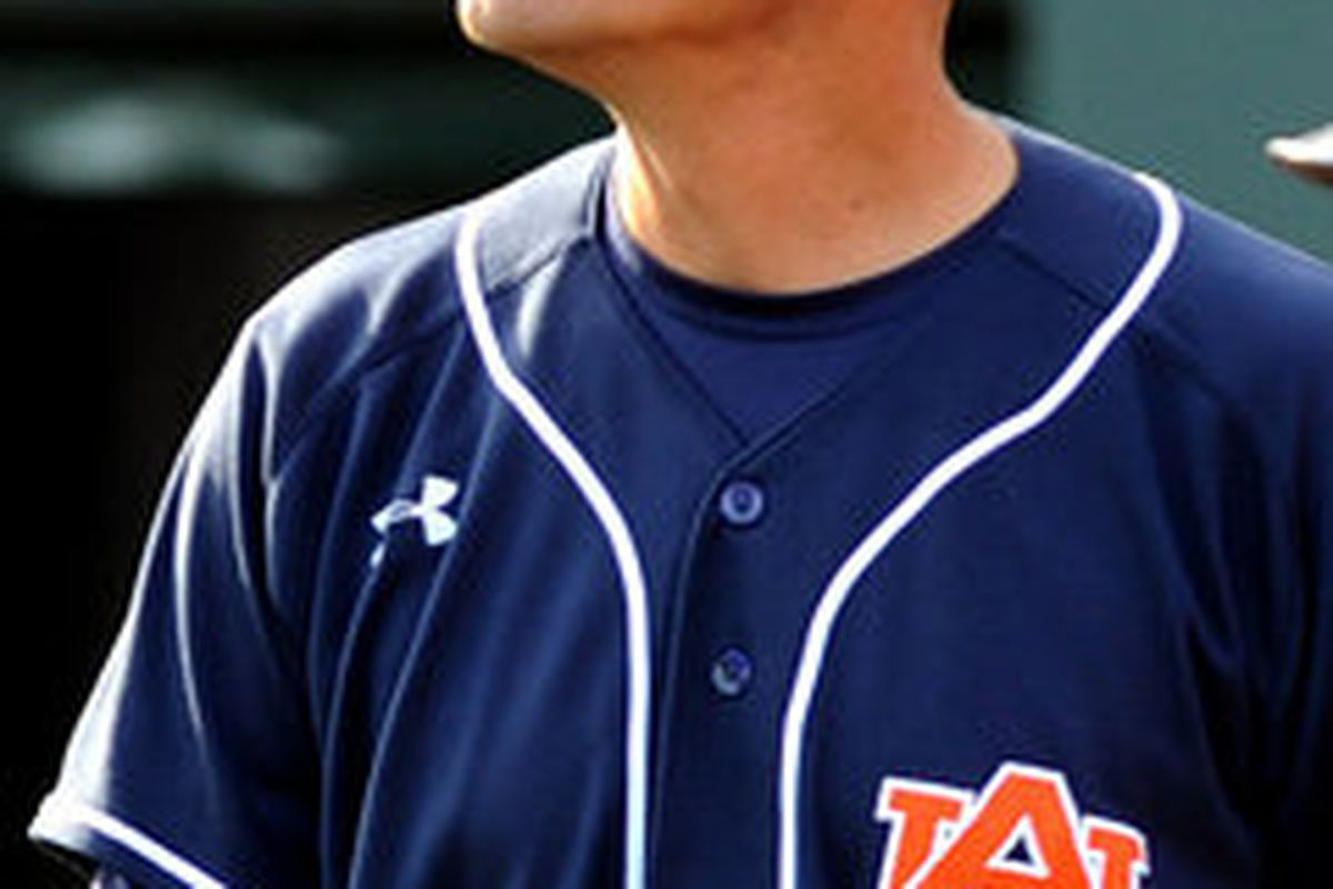 Auburn's John Pawlowski leads his team against the two time defending National Champion South Carolina Gamecocks in a crucial three game SEC series this weekend in Auburn. (<em>photo, al.com</em>)