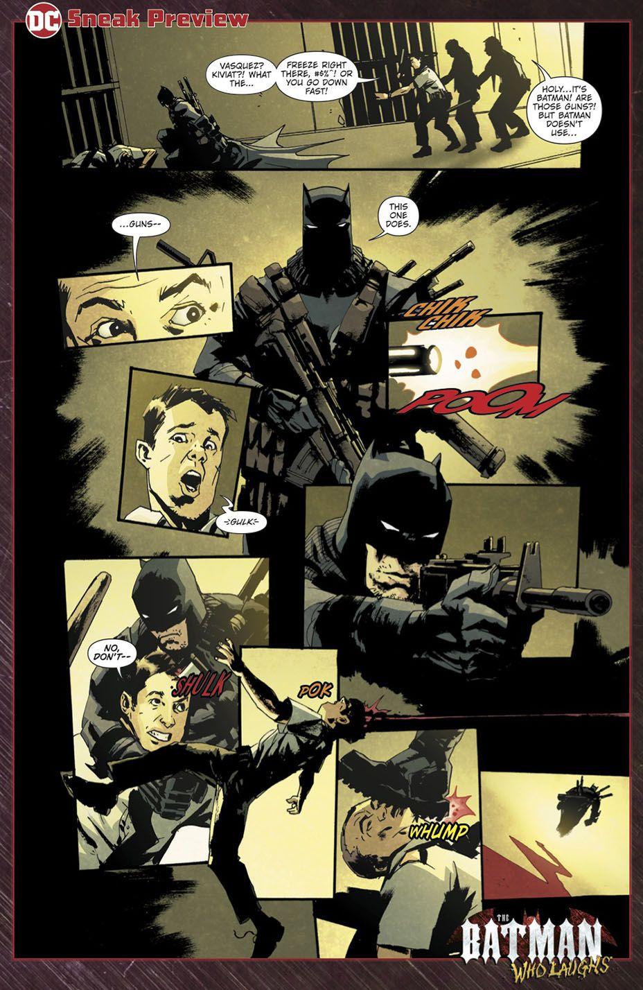 蝙蝠侠笑了回来,他带来了一个新的梦魇蝙蝠侠