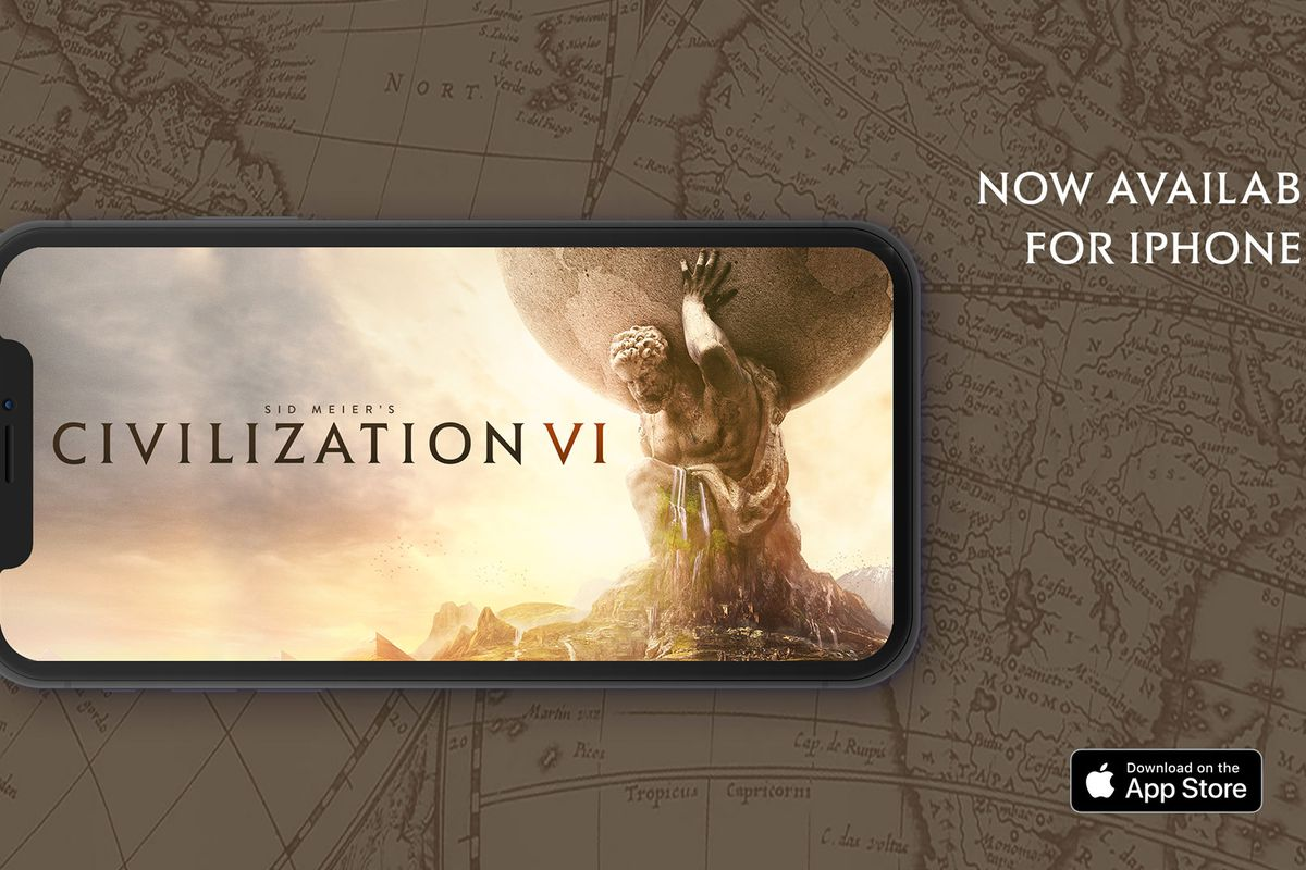 Civilization 6 has been squeezed onto the iPhone, and it's