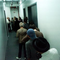 The crowd at Thom Browne's first sample sale in November