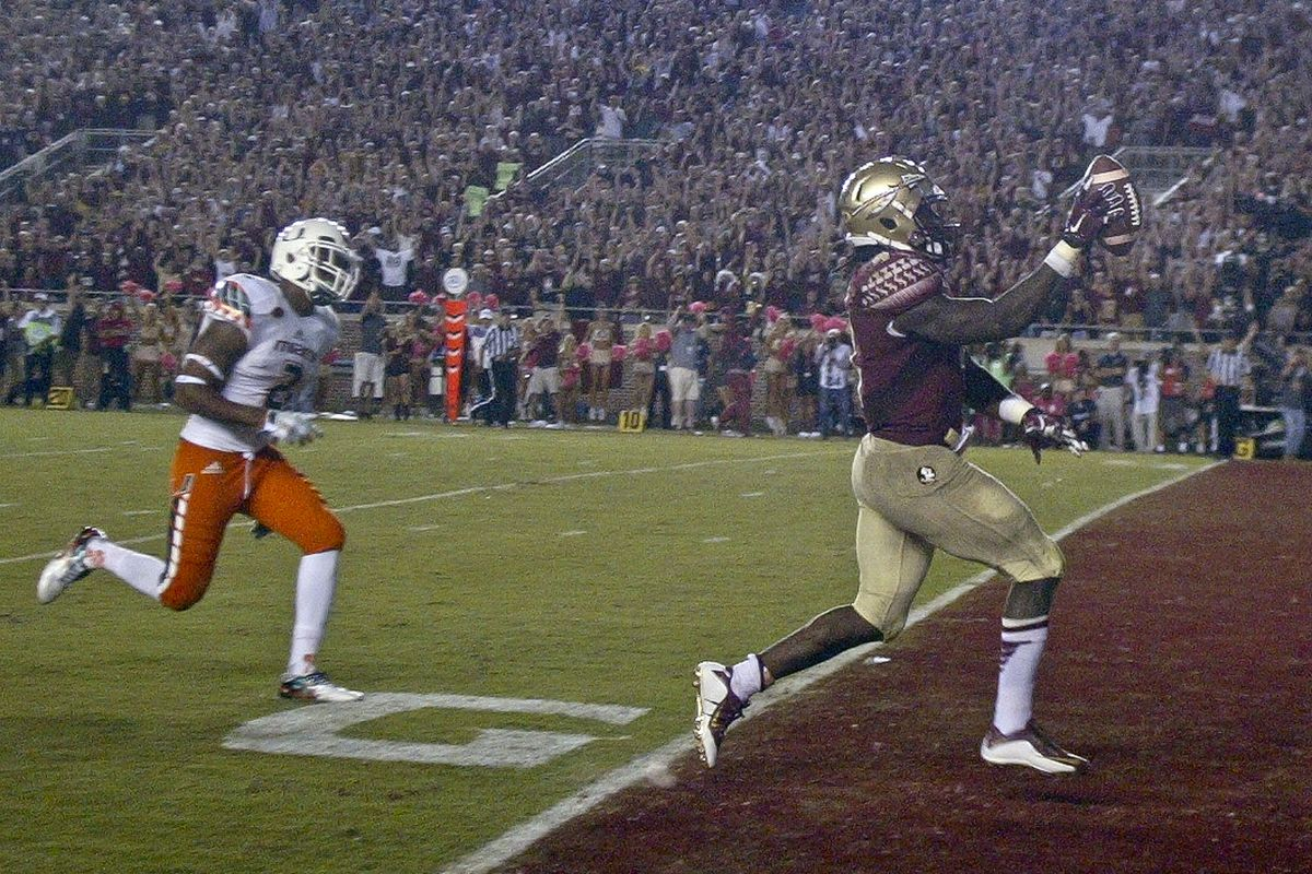 The Noles broke away from the Canes in the end.