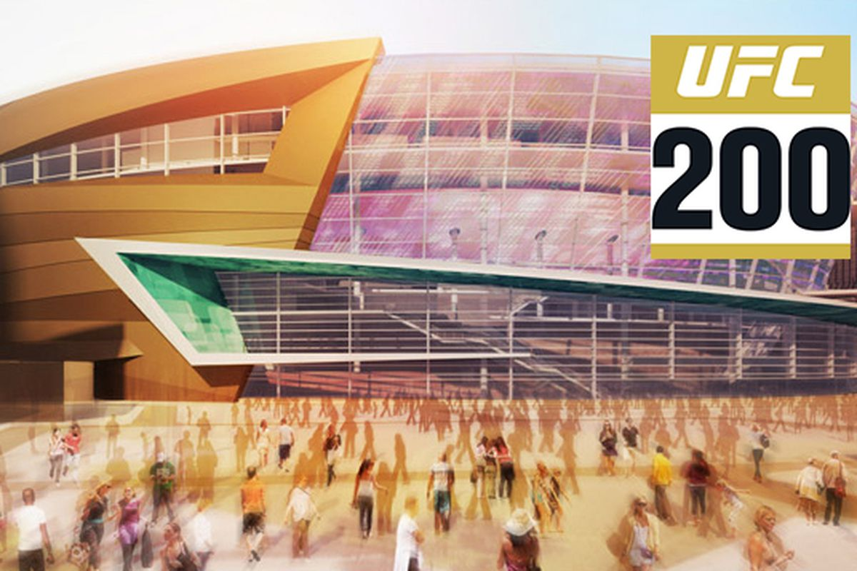Artist rendering of the The Arena -- a state-of-the-art, 20,000-seat multipurpose event center from AEG and MGM Resorts International