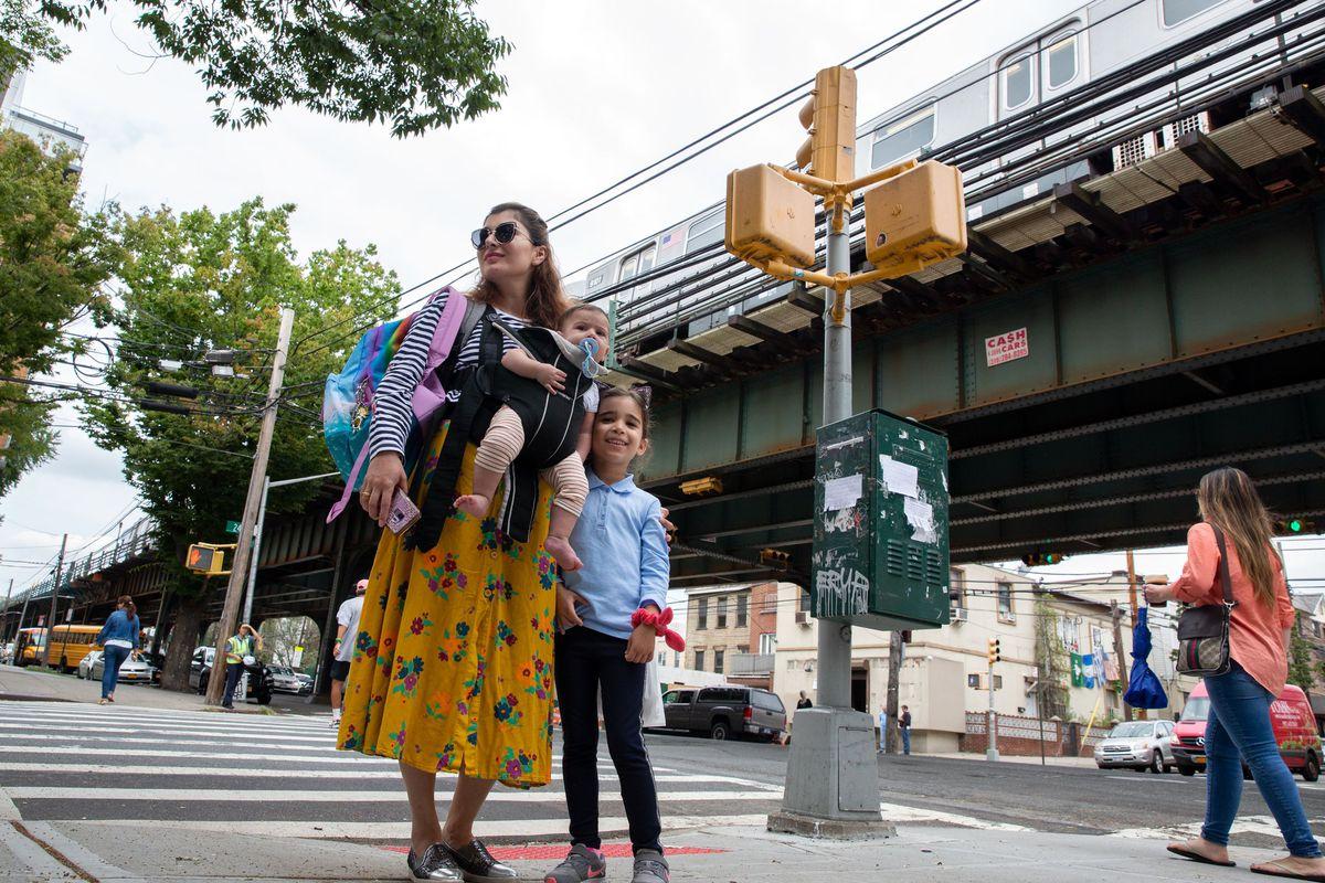 Nina Samadashvili, 37, said the lack of elevators along the Astoria line was an inconvenience for parents, Sept. 16, 2019.