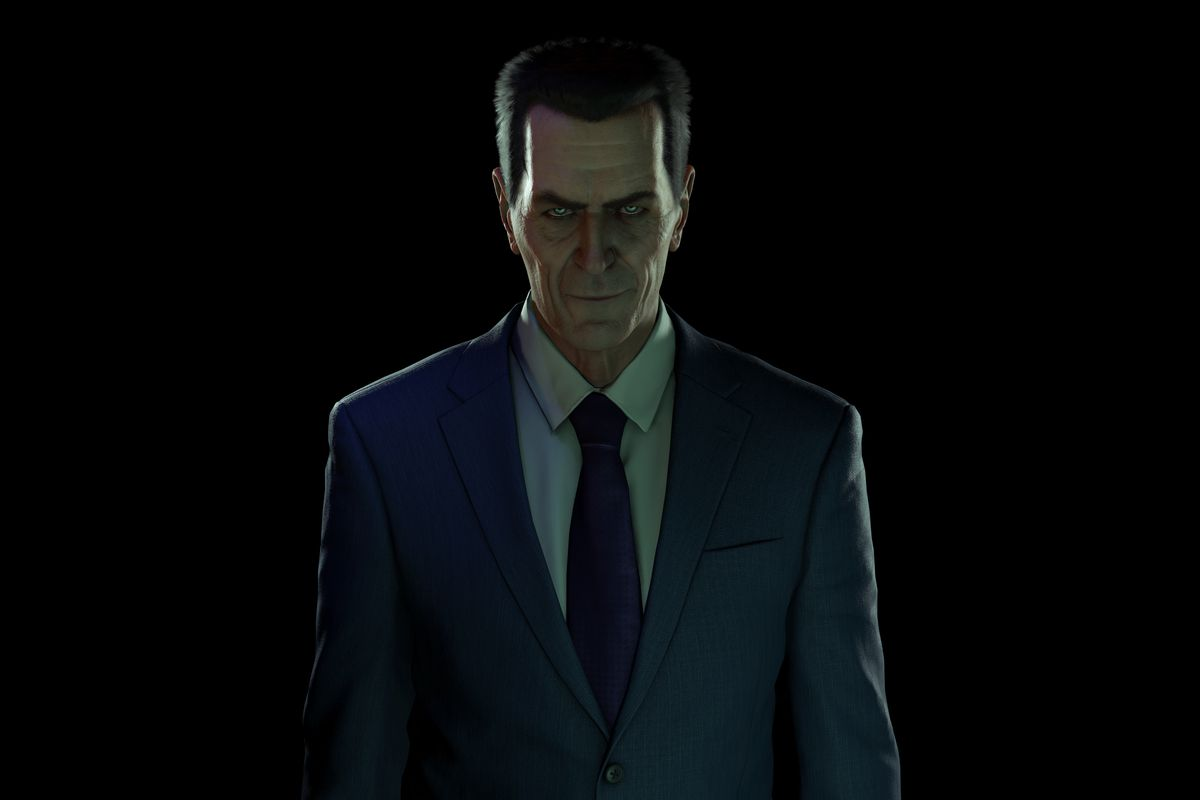 The G-Man from the Half-Life series emerges from the shadows