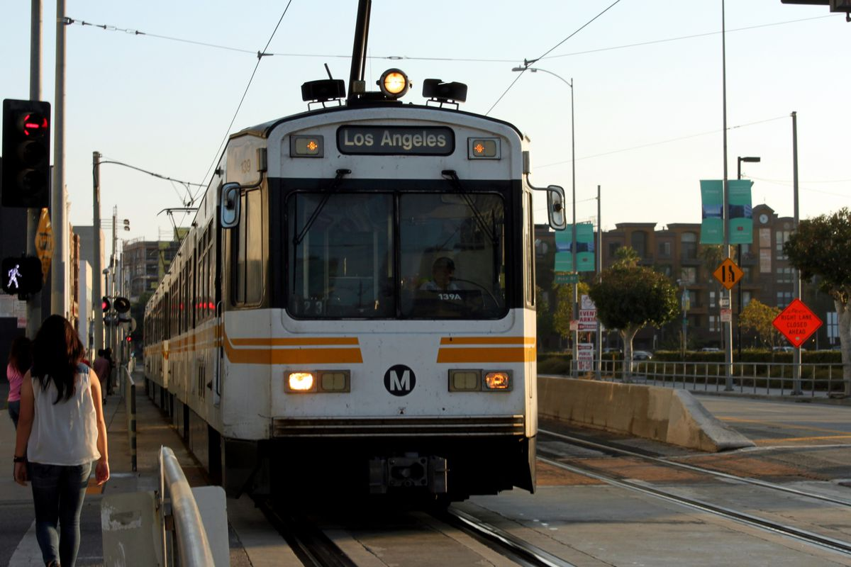 Blue Line train heading for Los Angeles