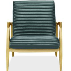 """<b>The Bestseller:</b> Customers at Room & Board love the striking, mid-century inspired <a href=""""http://www.roomandboard.com/catalog/bedroom/accent-chairs/callan-chair-and-ottoman-in-lagoon-leather"""">Callan Chair</a> ($1,699). The contoured seat and back"""