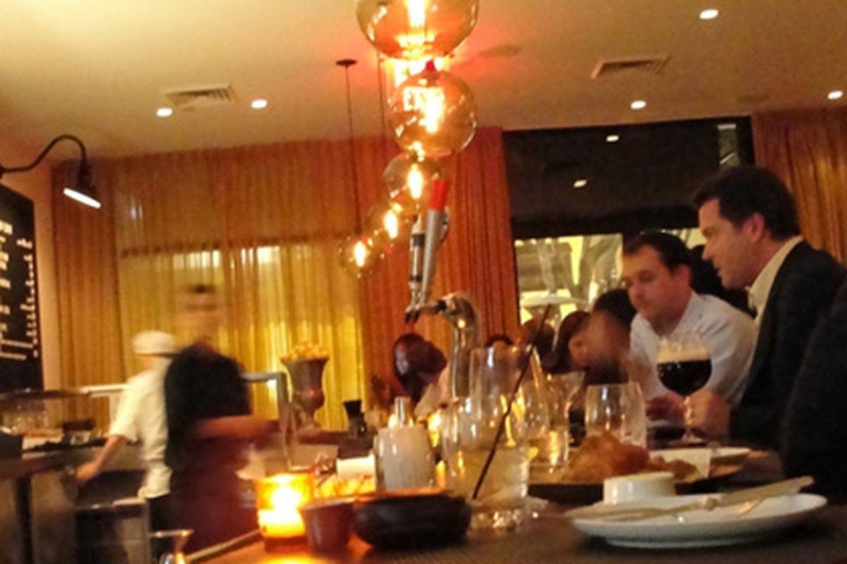 Los Angeles: The scene at BLT Steak.