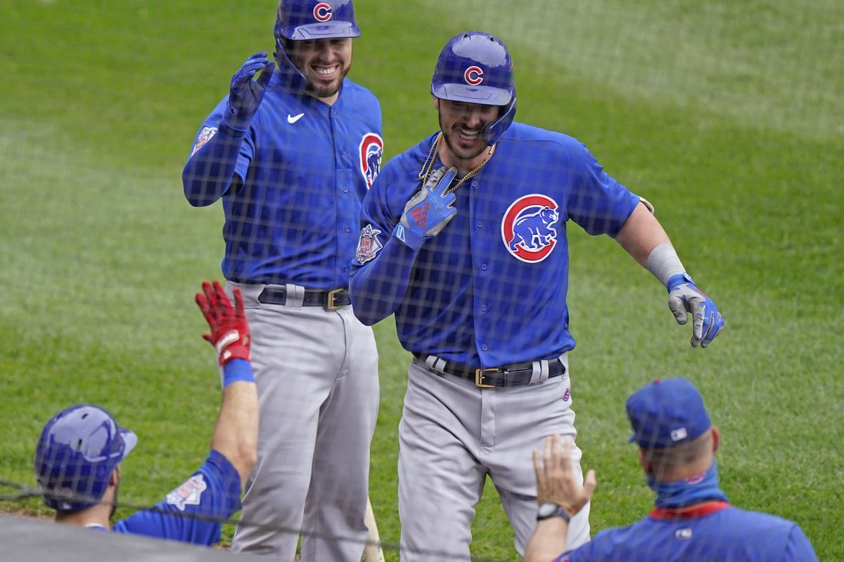 The Cubs are playing the NL wild card series against the Marlins at Wrigley Field.