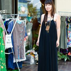 """<a href=""""http://la.racked.com/archives/2011/08/08/jamie_on_2nd_and_san_pedro.php"""" rel=""""nofollow"""">Jamie</a>'s entire outfit is from Raggedy Threads Vintage."""