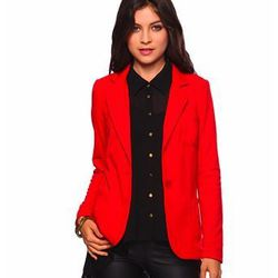 """<b>Forever 21</b> ponte knit blazer, <a href=""""http://www.forever21.com/Product/Product.aspx?BR=f21&Category=outerwear_career_blazer&ProductID=2083316788&VariantID="""">$29.80</a>."""
