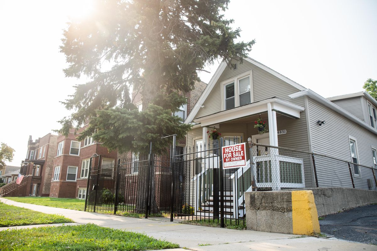 A house in the 4800 block of West Montana Street is for sale in the Belmont Cragin neighborhood.