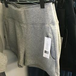 Theory + gray shorts, $69 (were $125)