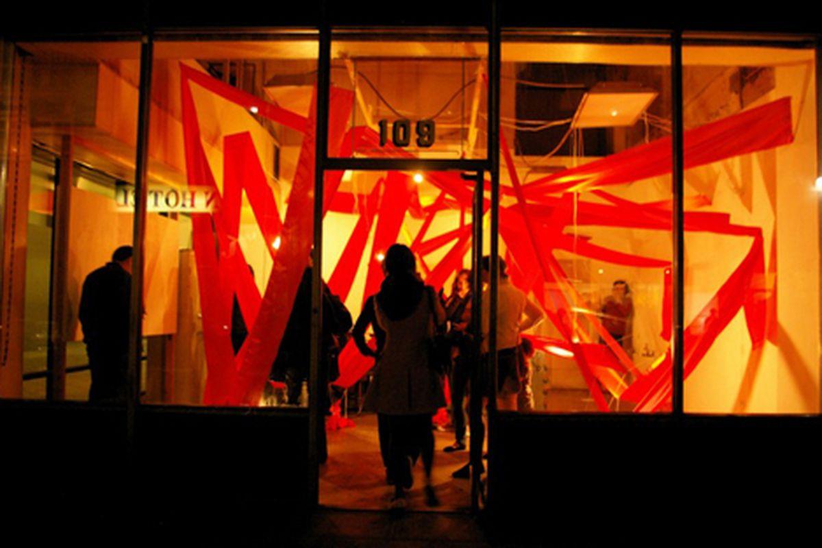 """The event at the Downtown Independent is part of a bigger party, the LA Artwalk. Image via <a href=""""http://www.a3la.com/blog/wp-content/uploads/2009/03/2015060947_2e3df625fe_o.jpg"""">a3la.com</a>"""