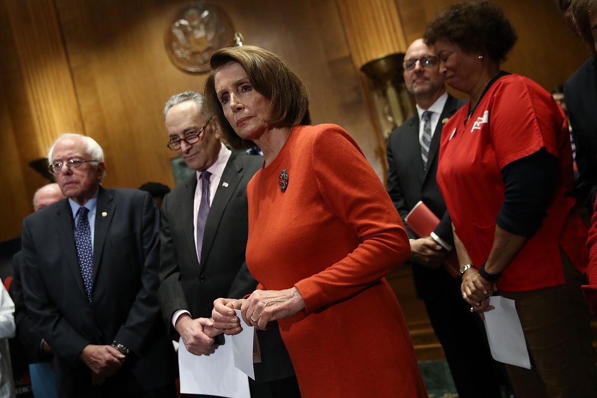 Sen. Sanders, Schumer, And House Minority Leader Pelosi Present Petition Demanding Trump And GOP Not Change Medicare Benefits