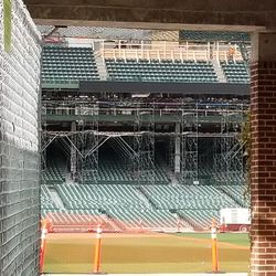 A look inside at some more upper deck work