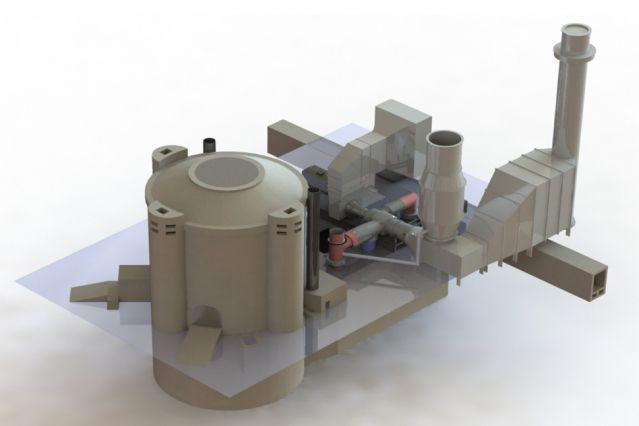 A hypothetical firebrick-based thermal storage system.