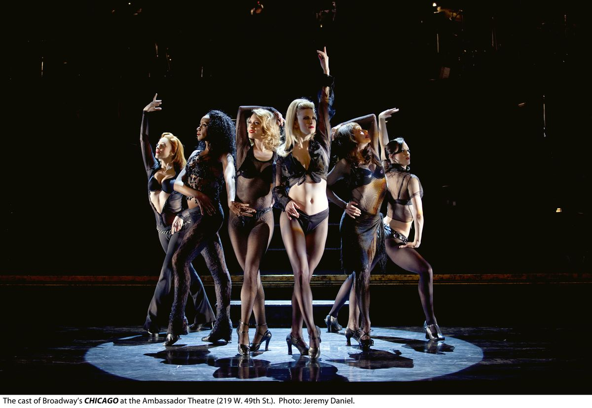 """The cast of the national touring production of """"Chicago."""" 