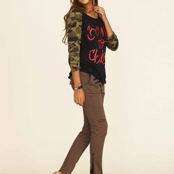BORN TO CHILL Contrast Tee, $72; Jenny Trousers, $119