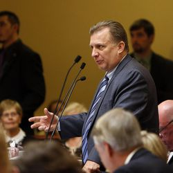 FILE: Sen. Curt Bramble, R-Provo, above, and Rep. Keven Stratton, R-Orem, are drafting a bill that would require doctors to tell women that they may be able to reverse drug-induced abortions.