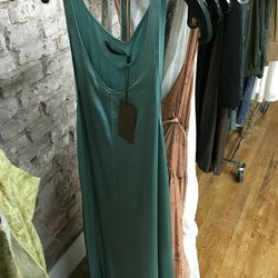 Sample Infinity dress in turquoise, $129