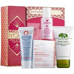 """<b>Sephora Favorites</b> Cleansing Ritual To Go, <a href=""""http://www.sephora.com/cleansing-ritual-to-go-P389040?skuId=1627157"""">$20</a>"""