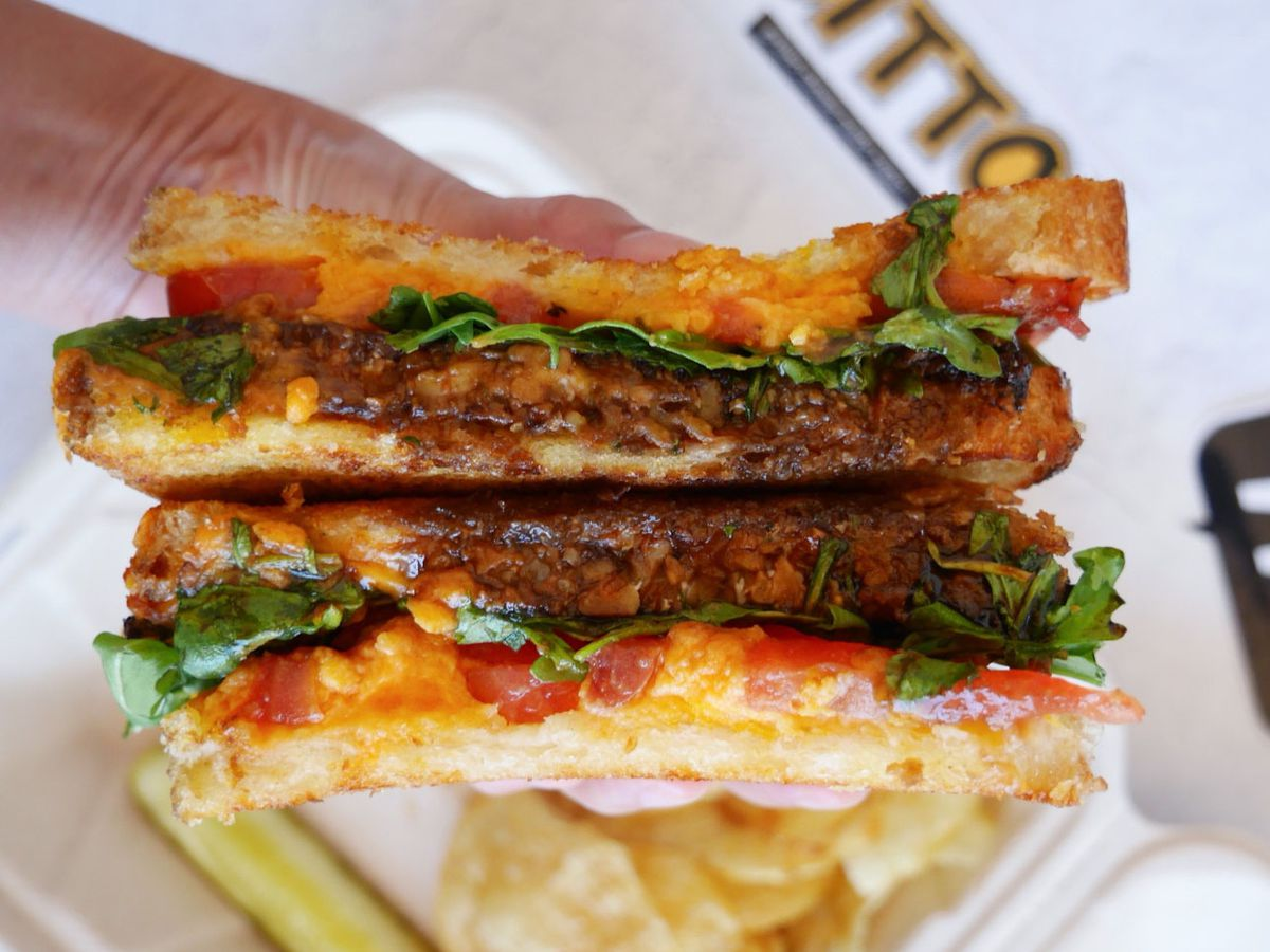 A picture of The Finn grilled cheese sandwich at Ditto