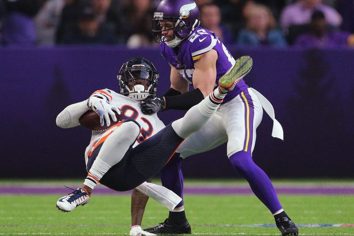 fd84512bd37 Bears WR Javon Wims caught four passes for 32 yards against the Vikings. |  Adam Bettcher/Getty Images