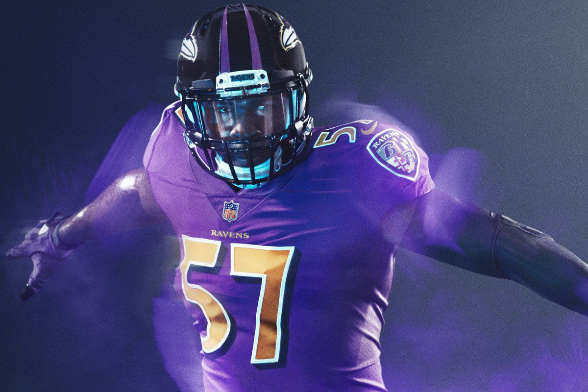 bea2d87e1 OFFICIAL  Ravens Color Rush jerseys announced