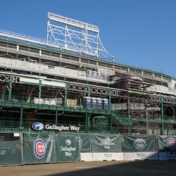 The west side of the ballpark