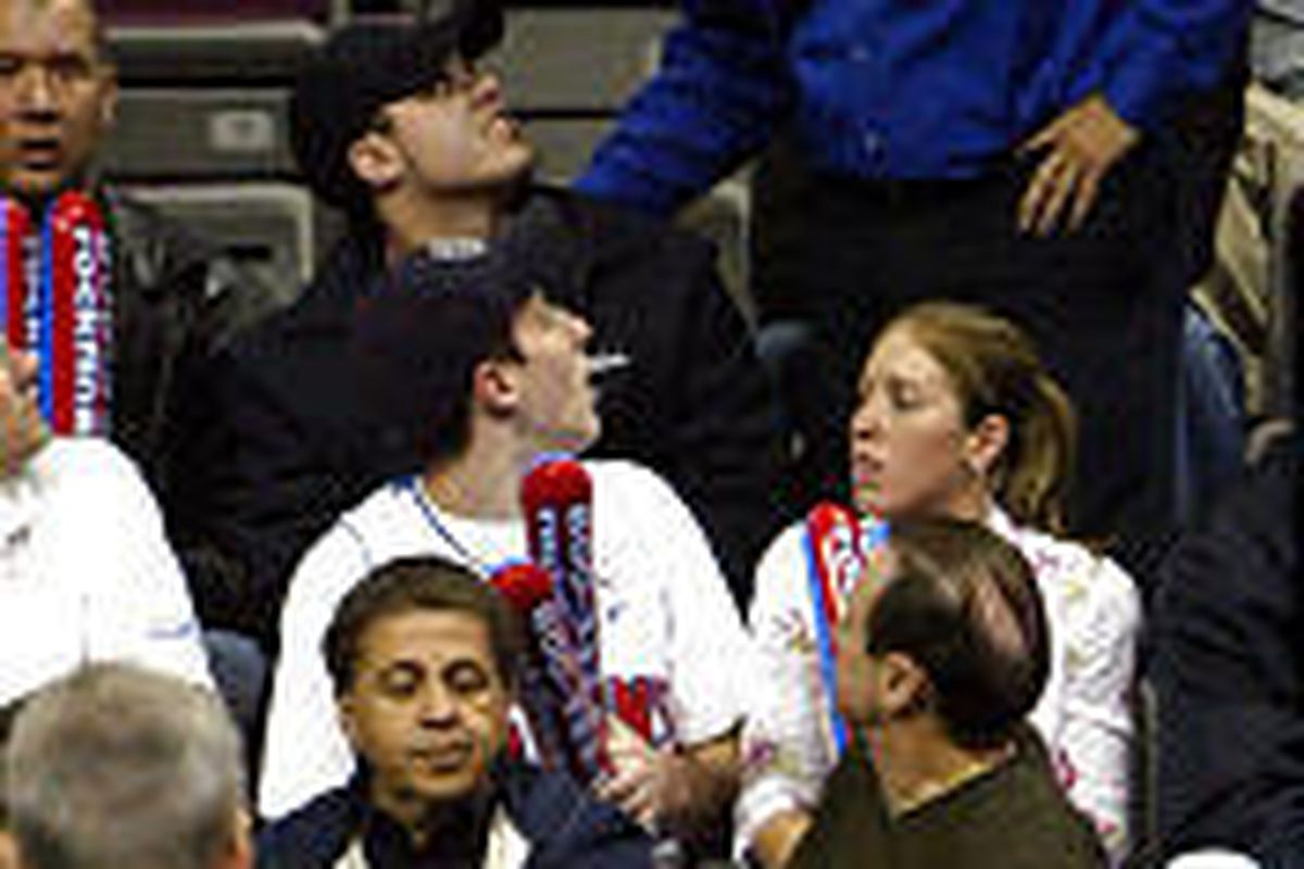 Pistons Supporter Accused Of Throwing Coin At Iverson