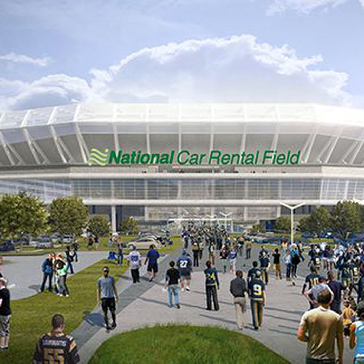 New St  Louis Stadium: Naming Rights Sold For