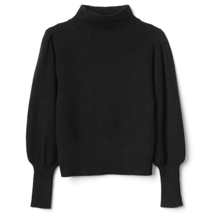 Black Gap balloon sleeved sweater