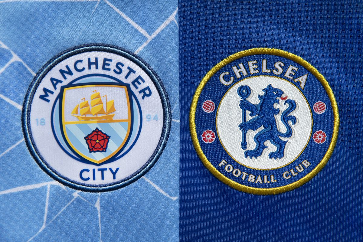 The Club Badges of Chelsea FC and Manchester City FC
