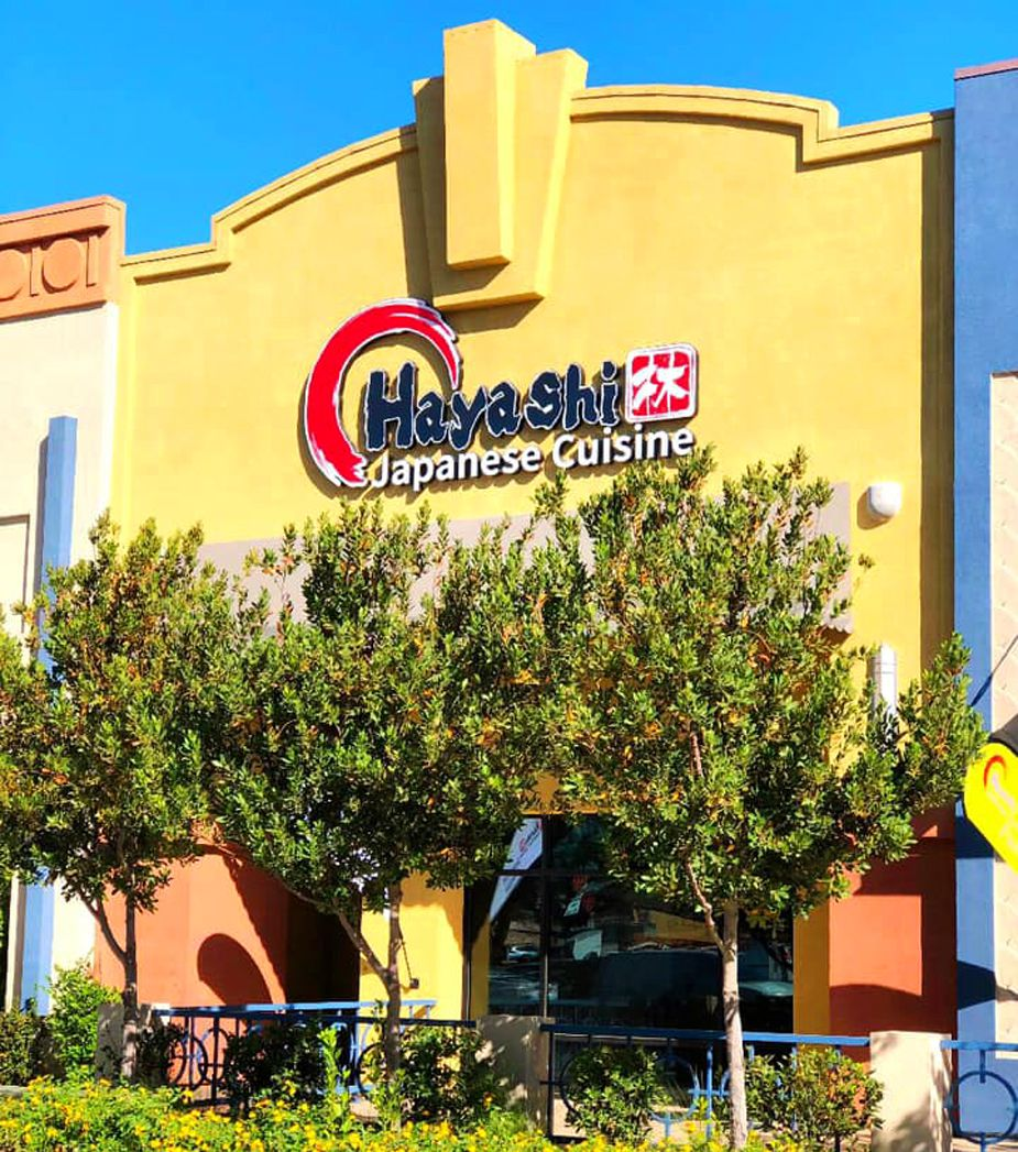 The exterior of the new Hayashi Japanese Cuisine restaurant at the Boulevard Mall.