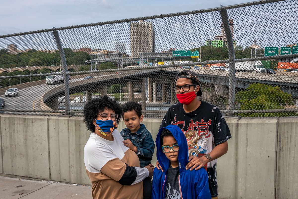 Elisha Bouret, 27, says she and her family have been impacted by pollution from the Cross Bronx Expressway.