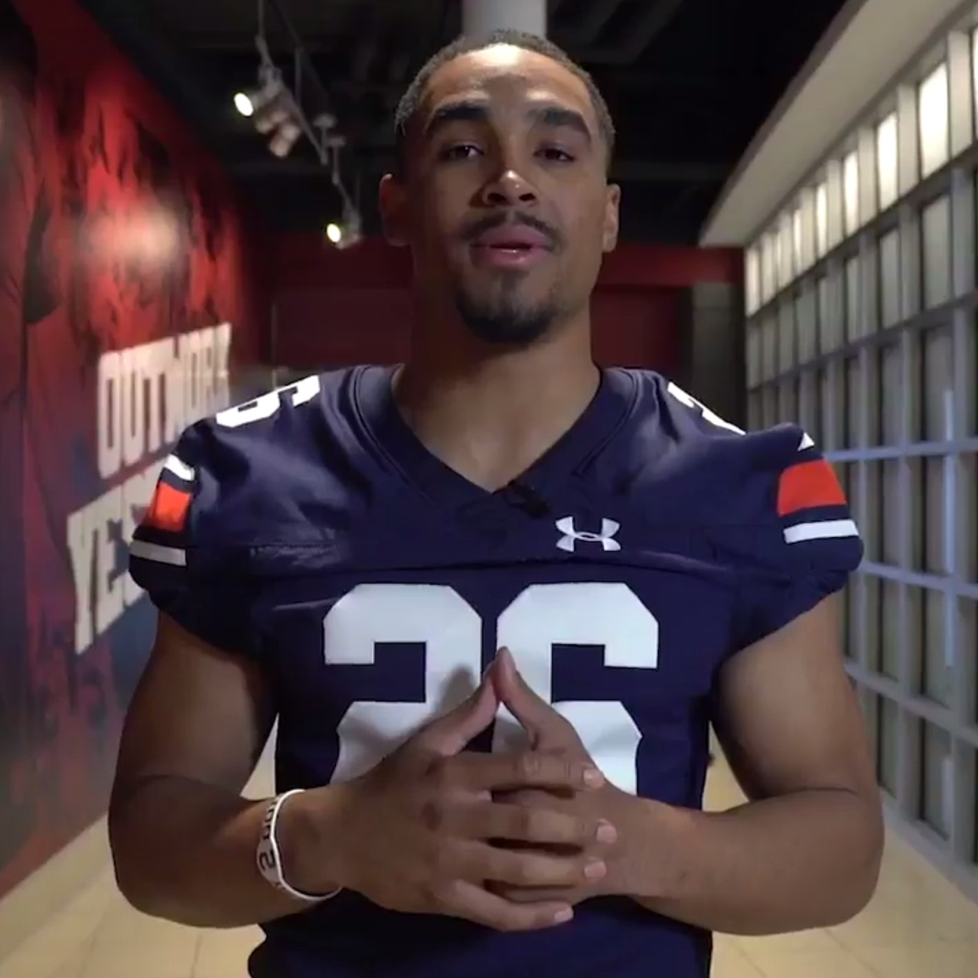 Alabama QB Jalen Hurts wears Auburn jersey after losing bet with Charles  Barkley acd63badf