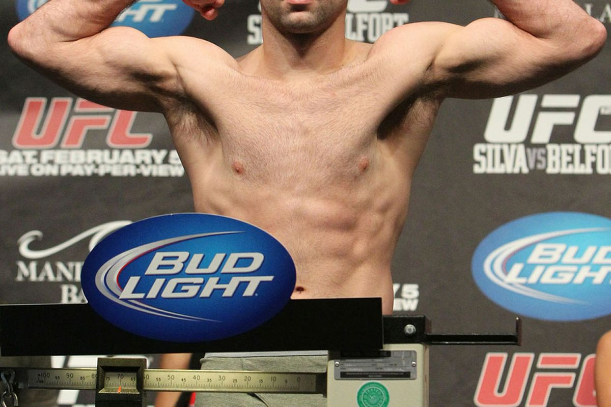 """Photo of Kenny Robertson, who replaces the injured Jon Fitch at UFC on FUEL TV 4, via <a href=""""http://media.ufc.tv/126/images/126_weighin/GYI0063316617.jpg"""">UFC.com</a>."""