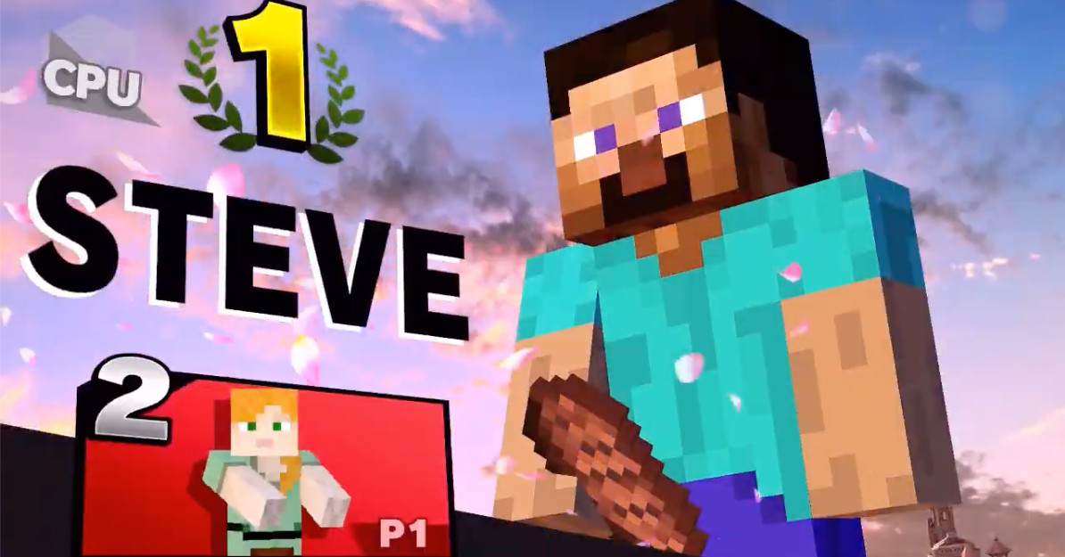 Smash Bros. patches out Minecraft Steve's meat