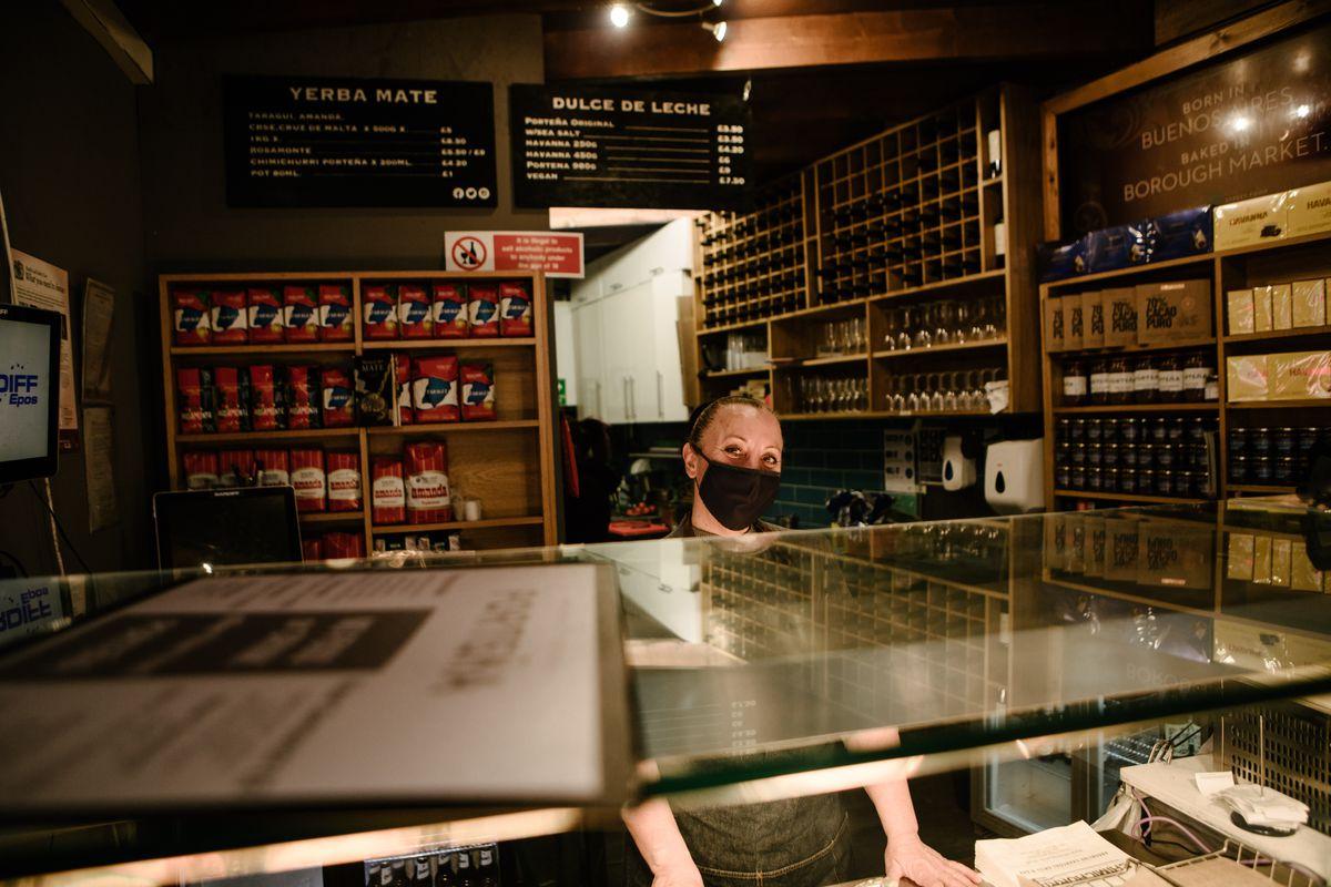 The counter at Porteña Borough Market, an Argentinian restaurant