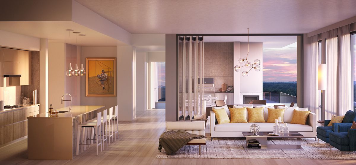 A rendering of the ritzy Charles condos coming in Buckhead.