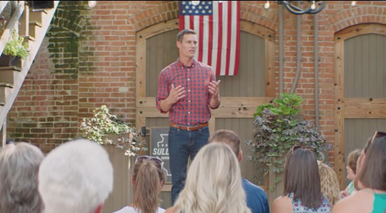 Republican gubernatorial candidate Jesse Sullivan speaks to supporters in a campaign video released Thursday.