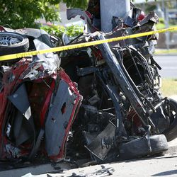 Scene of a fatal accident involving two vehicles at the intersection of 5400 South and 2700 West in Taylorsville on Saturday, June 3, 2017.