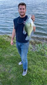 A.J. Cwiok with a really big crappie from the waters of Bolingbrook. Provided