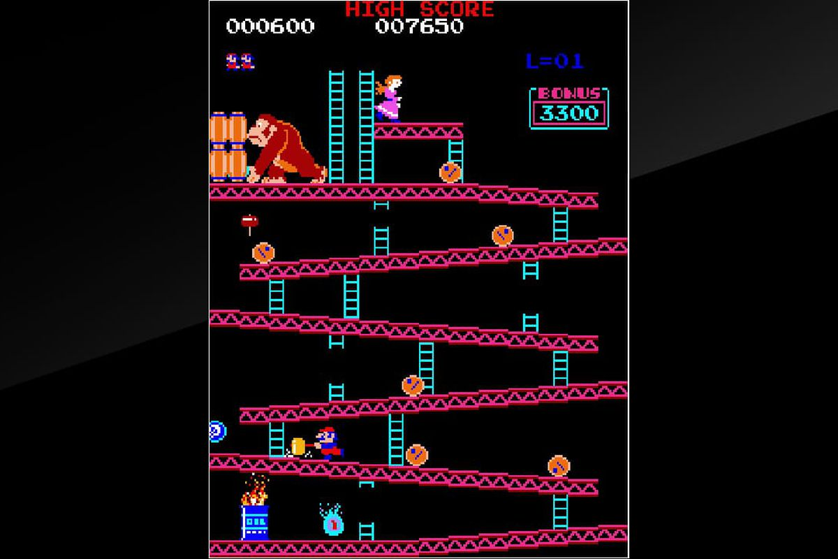 arcade donkey kong re released for first time on nintendo switch the verge. Black Bedroom Furniture Sets. Home Design Ideas
